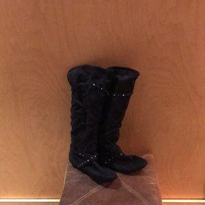 REPORT tall Black Boots Sz 11m